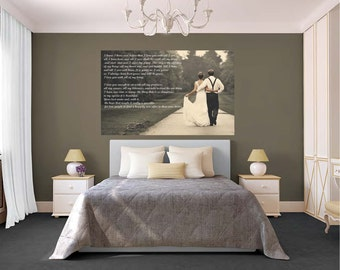 Wedding Vow Canvas, Wedding Canvas, Custom Photo Canvas With Text