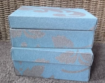 Teal and Sliver Boxes/Jewellery Boxes