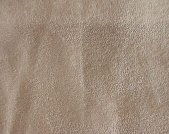 25 Soft Beige Velour feel upholstery fabric