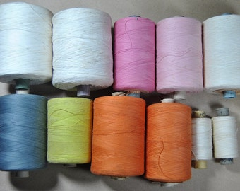 Vintage Sewing cotton thread. Big set. Made in USSR