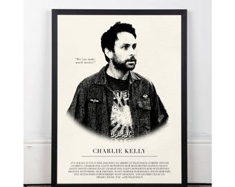 Charlie Kelly, It's Always Sunny in Philadelphia, INSTANT DOWNLOAD, Printable wall art decor poster, pop art, funny art, sitcom, Charlie Day
