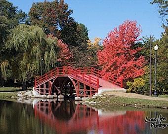 Old Red Bridge at Elm Park, Worcester, MA