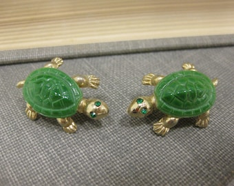 Pair of Tiny, Adorable Turtle Pins