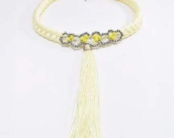Golden It Girl Necklace With Tassel