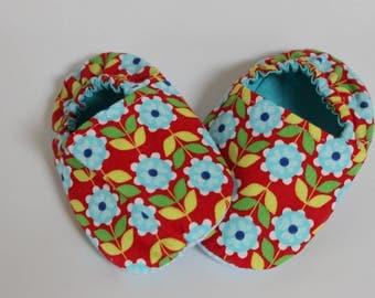 Retro printed Poplin slippers