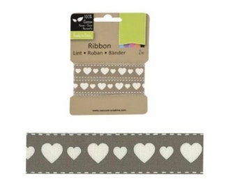 Decorative ribbon with hearts 2m (VC-7)