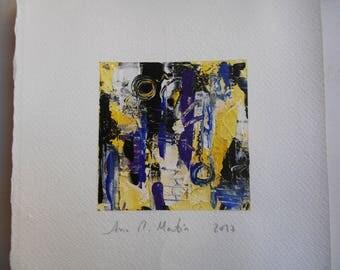 Paint 10 cm x 10 cm - Original abstract acrylic painting. Series small abstract paintings in acrylic.