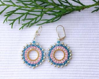 Look!! handmade crystal earrings