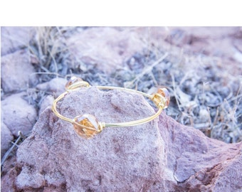 Orange Slice Gold Bangle