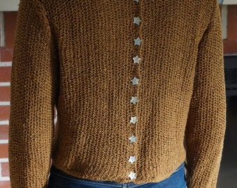double-sided, false buttoning back sweater