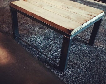 Industrial decor coffee table
