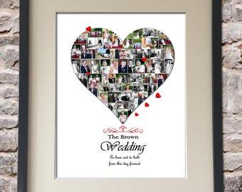 Wedding Heart Digital Collage