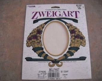 Zweigart Linen 32ct 14 x 18 Cream color