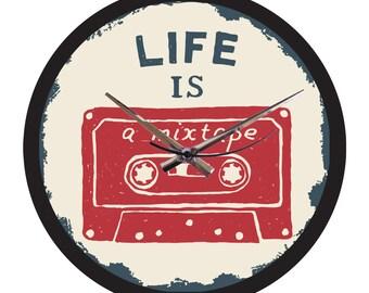 Vinyl Wall Clock - Life is a mixtape