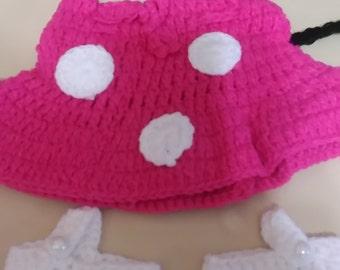 Crochet photo prop/ diaper cover set