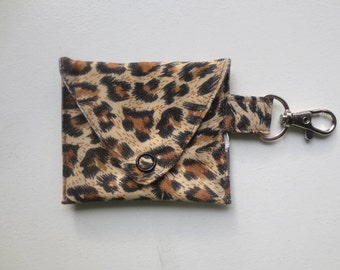 Cheetah Print Mouth Guard Holder - Mouth Guard Case - Roller Derby