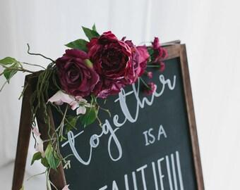 Sign/Arch Floral Garland