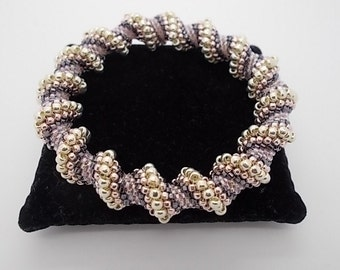 Beaded Bracelet Pink Cellini Spiral Beaded Bangle A Perfect Gift for any Occasion