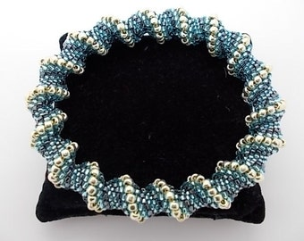 Bracelet Kit Blue Cellini Spiral  Bangle Make your own bracelet