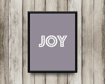 Joy - Gray Printable 8x10