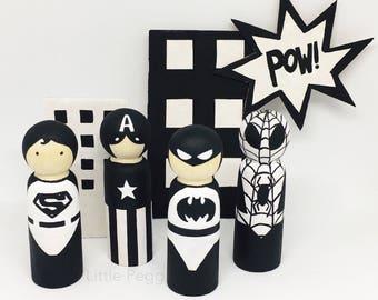 Superhero Peg Dolls
