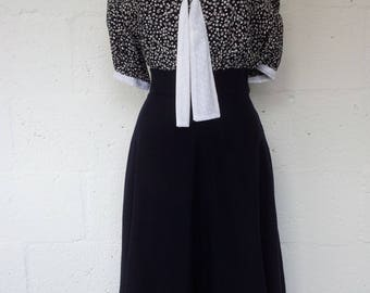 Dark blue semi circle skirt