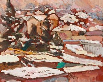 "Durdy Bayramov's ""Winter Landscape"" canvas print"