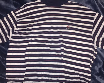 XL tommy hilfiger striped turtleneck v rare htf