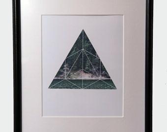 Lake & Forest Triangle Geometric Print