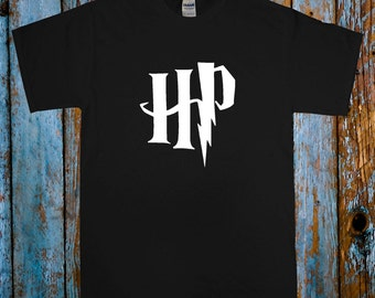 HARRY POTTER T SHIRT Hogwarts School Wizardry Tee Top Black White and size s-xxl