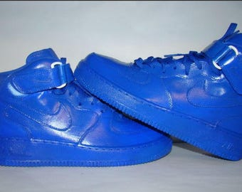 Royal Blue Nike Air Force One  Mid Top