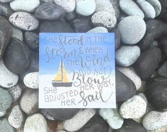 Inspirational Quotes Wall Desk Coaster Size Modern Calligraphy Painting Mdf Board 10 x 10cm