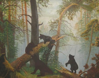 Bears in the mountian forest