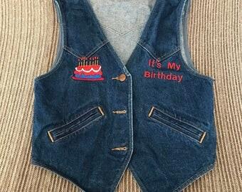 Vintage Wrangler Birthday Vest
