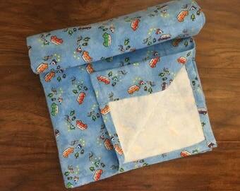 Flannel Receiving Baby Blanket, Camping Pattern, Outdoor, Camping Receiving Blanket, Baby Shower Gift, Nursery Bedding, Play Mat, Baby Branc