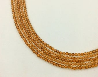 """Citrine Faceted Round Beads 16""""  (Multiple sizes)"""