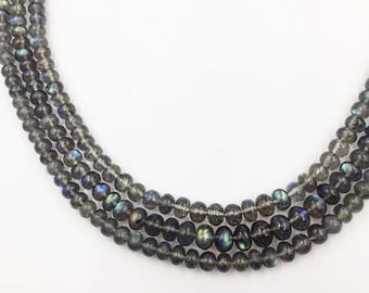 """Labradorite Faceted Round Beads 16""""  (Multiple sizes)"""