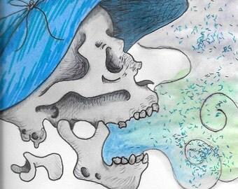 Witch Skull Print