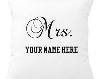 Mrs. Custom Pillow