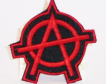 Red on black anarchy patch