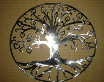 Tree of life hearts Metal Art