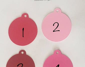 Tags / Favor Tags / Candy Bar Tags / Price Tags / Gift tags / Decorative tags / Wedding Tags / Labels / Red tags / Pink tags/Light pink tags