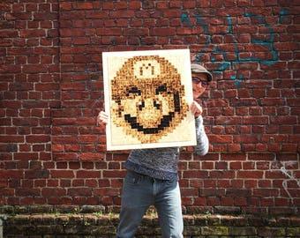 Mario Pixel Art wood.