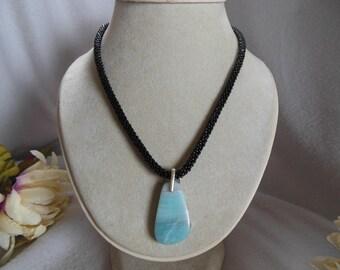 Casual Blue & Black Necklace