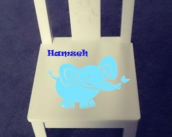 Personalized kids chair - Elephant