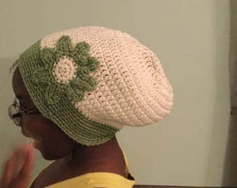 Sunflower slouch Hat and Scarf