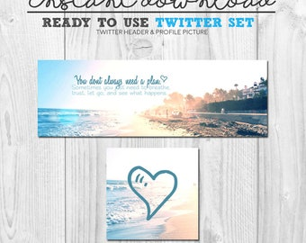 premade twitter cover, ready to use twitter cover header banner image, premade social media page graphics, instant download twitter set
