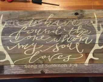 Song of Solomon Sign, wedding gift, wedding decor, engagment gift, housewarming gift, scripture, Christian Signs, love signs