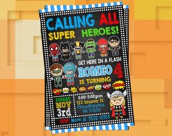 Superhero Birthday Invitation,Superhero Birthday,Superhero Invite,Superhero Invitation,Superhero Party,Superhero Birthday Party