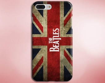 The Beatles Flag Case for iPhone 5, 6, 6+, 7, 7+ and Samsung Note 5, s6, s7 Edge, s7